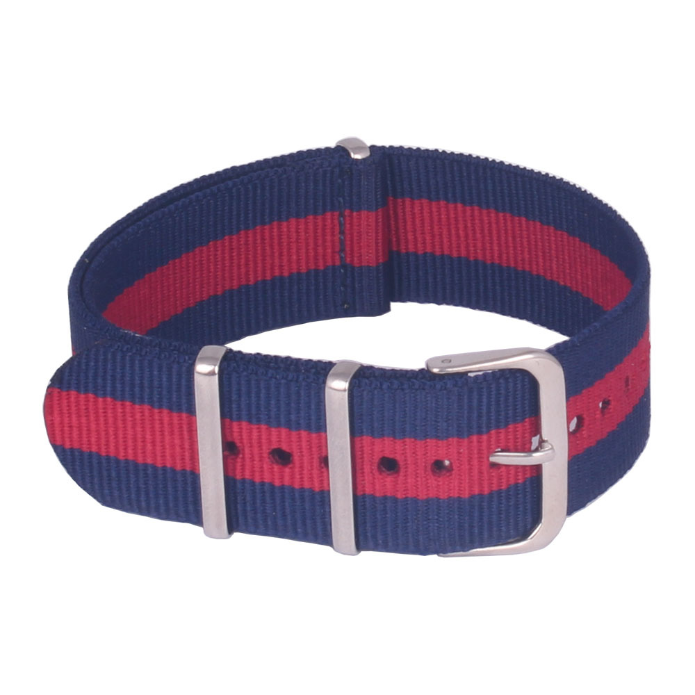 2015 Army Military Nato Nylon Watch Fabric Woven Navy Red Navy Watchbands Strap Band Buckle Belt Accessories 16mm 18mm 20mm 22mm