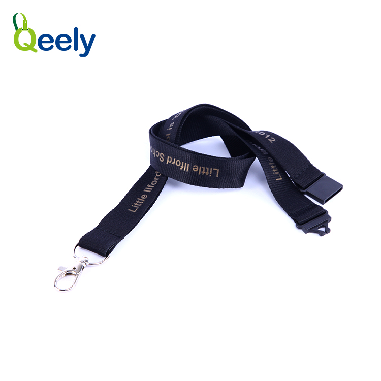 Fuzhou Qeely Great for ID Badges Key Chains custom polyester lanyard