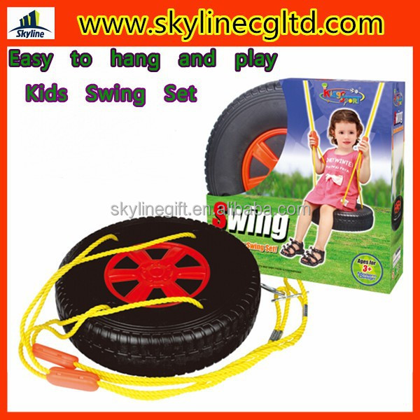 outdoor/indoor plastic swings for children, Tire shape swing chair, kids swing toys