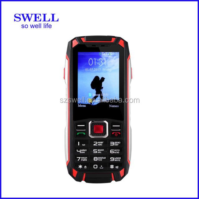 rugged waterproof cell phone F007 with PTT walkie talkie torch oem mobile