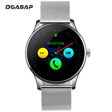 DOASAP K88H 폰 <span class=keywords><strong>스마트</strong></span> 1.22 인치 IPS Round 스크린 Support Sport Heart Rate Monitor Smart Watch Bluetooth 대 한 IOS 안드로이드