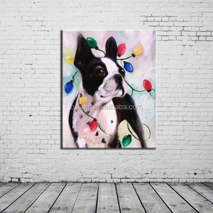 china animal photos dog halloween lighted canvas oil painting modern abstract oil painting ideas for decorate a bar home deocr