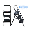 Household metal three step ladder stool with gs certificate