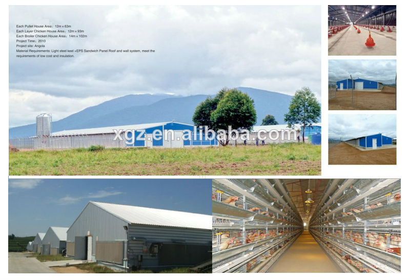 cheap steel structure modernization of the henhouse