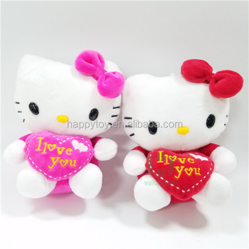 HI CE Promotion Valentine Stuffed Plush Toy Hello Kitty,teddy Bear
