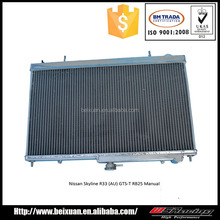Factory price High quality alumnium for NISSSAN SKYLINE R33(AU) GTS-T RB25 MANUAL radiator