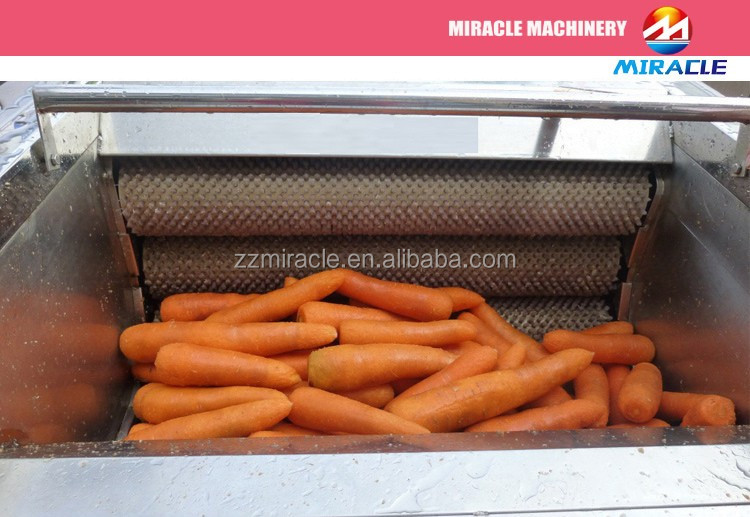 Cheap Price Potatoes Washing Cleaning/Peeling Machine/Brush Type Washer/ Peeler for Carrots