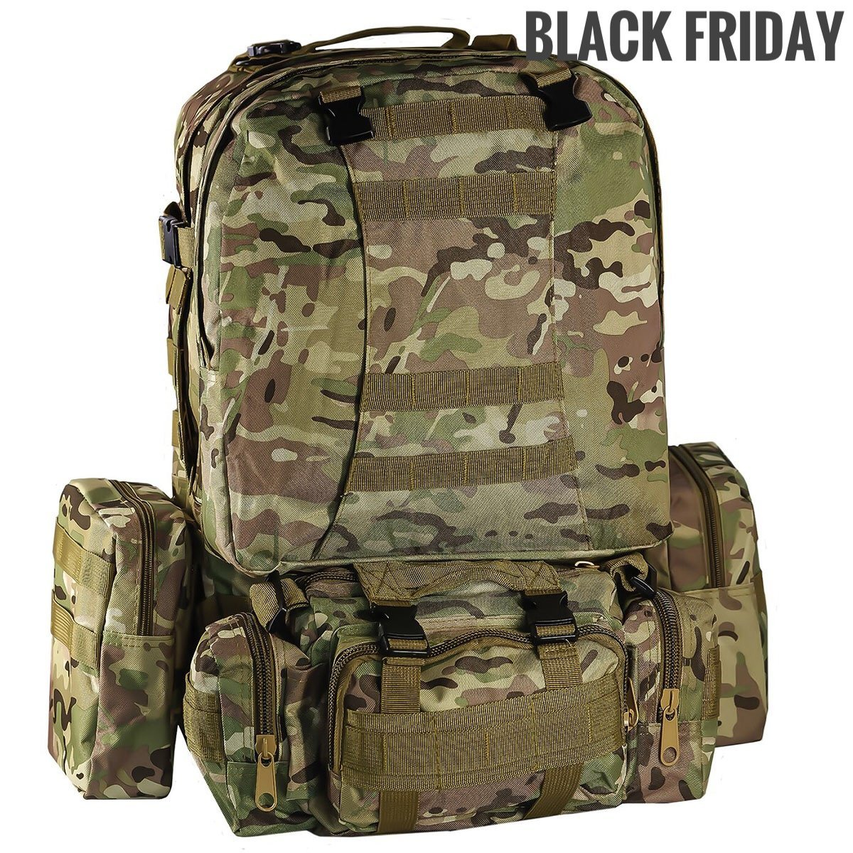 2f7b7f153147 Get Quotations · Military Tactical backpack Camouflage large Military  Backpack molle Assault Pack 50L waterproof 3 day Combat Backpack