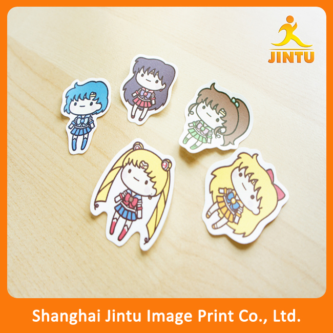 cute die cut sailor moon stickers, custom stickers