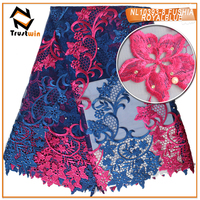 New design Nice color french net lace for bridal wedding dress