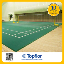 Topflor Good Quality Cheap Comfortable Indoor Volleyball Flooring Used Volleyball Sports Court
