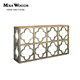 New design wood curved console table antique wood console tables