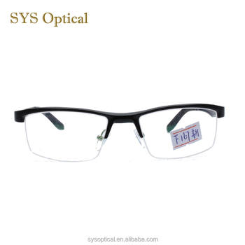 0f0eba219693 European types of spectacles eyeglass frame half rim optical frame made in  china
