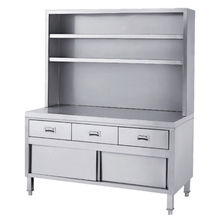 FAMO.7707 series FILMA Stainless Steel Cabinets - Ambient Cabinet with Drawers, Sliding Doors & Upright Shelves