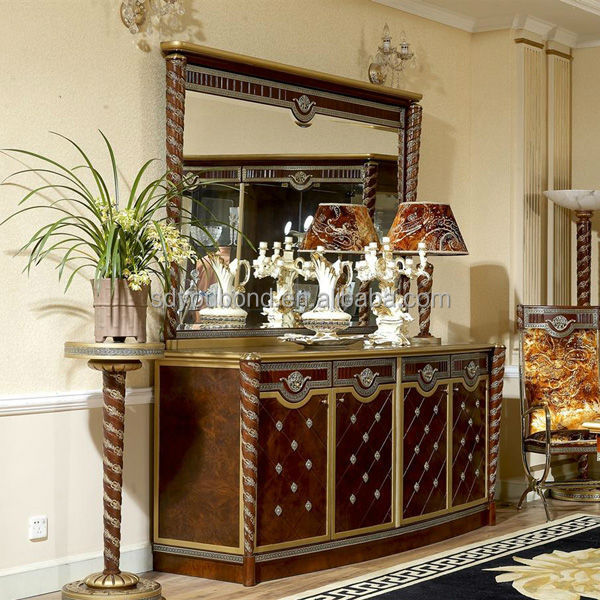 0026 European Antique Style Royal Hand Carved Solid Wood Dining Room Set Furniture Use For