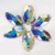 Top quality garment accessories cosmic shape AB color sew on glass rhinestone flatback glass stones