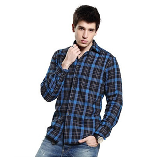 2015 fashion long plaid shirt men long sleeve plaid striped casual Shirts cotton Flannel Shirt male plaid Shirts plus size xxxl