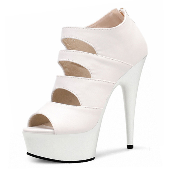 b8db6f5b018f Get Quotations · 2015 New Brand Women High Heels Peep Toe Sexy Cuts Out Woman  Pumps Ladies 15