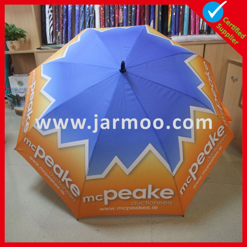 Advertising Custom Logo Rubber and Fiberglass umbrella with umbrella hole