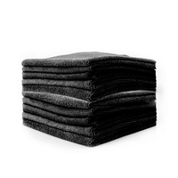 Professional edgeless 350gsm premium 70/30 blend microfiber polishing towels wax removal towels and auto detailing towels