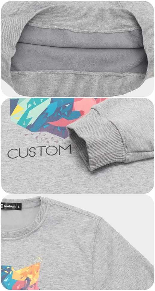 Wholesale China good quality fashion custom printed sweatshirt plain