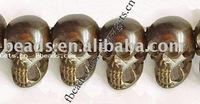 skull bone bead