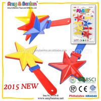 4 PCS Material Star Shape Hand Clapper With Noise Make