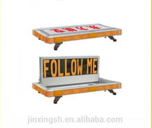 """FOLLOW ME"" screen LED Yellow warning lightbar red and blue emergency vehicle lightbar"