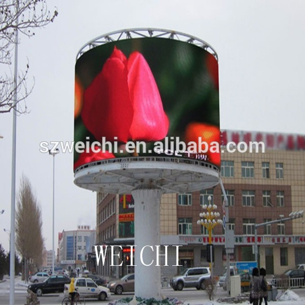 aluminium scrolling billboard display hanging aluminum frame sign p12.5 pixel led mesh screen