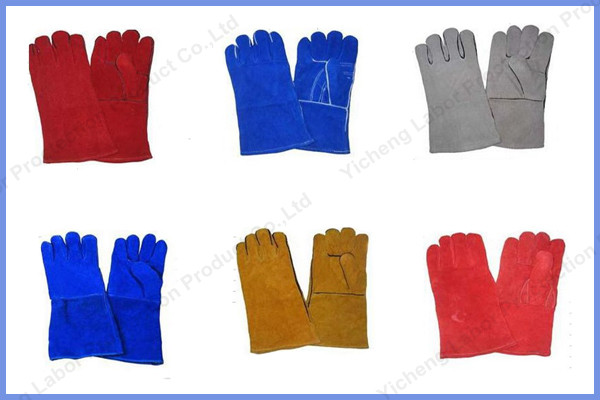 Long Cow Leather Working Gloves Welding Gloves Factory Sell ...
