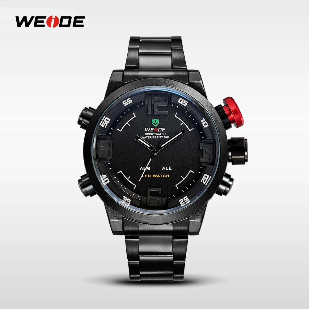 Wrist watches brands for mens - Wholesale Hot Products Weide Wh2309 30m Waterproof Led Watch Instructions Stainless Steel Watch Alibaba Com