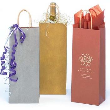 Kraft Paper Jute Gift Decorate Wine Bag