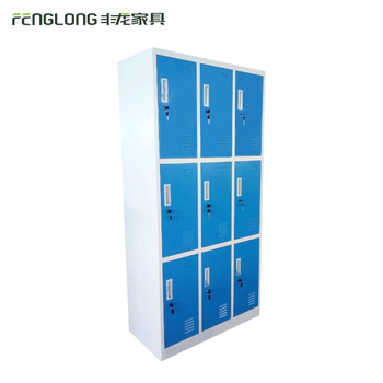 Boys Locker Room Bedroom Furniture / Blue Colour Kids Locker