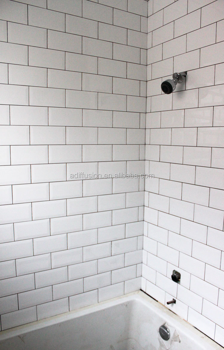 White matte beveled subway tiles 7515cm 3x6 buy matte wall white matte beveled subway tiles 7515cm 3x6 dailygadgetfo Image collections
