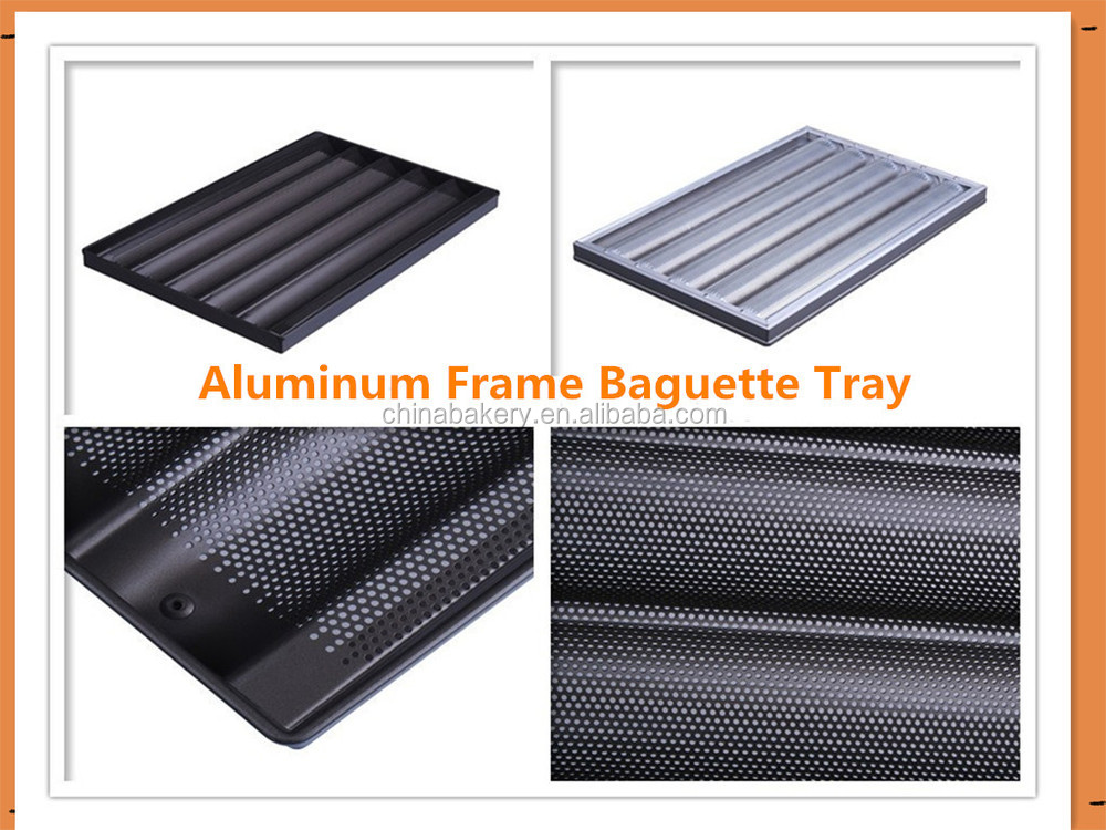 6 channels perforated aluminum baguette baking traynon stick crate and barrel baguette tray aluminum crate barrel