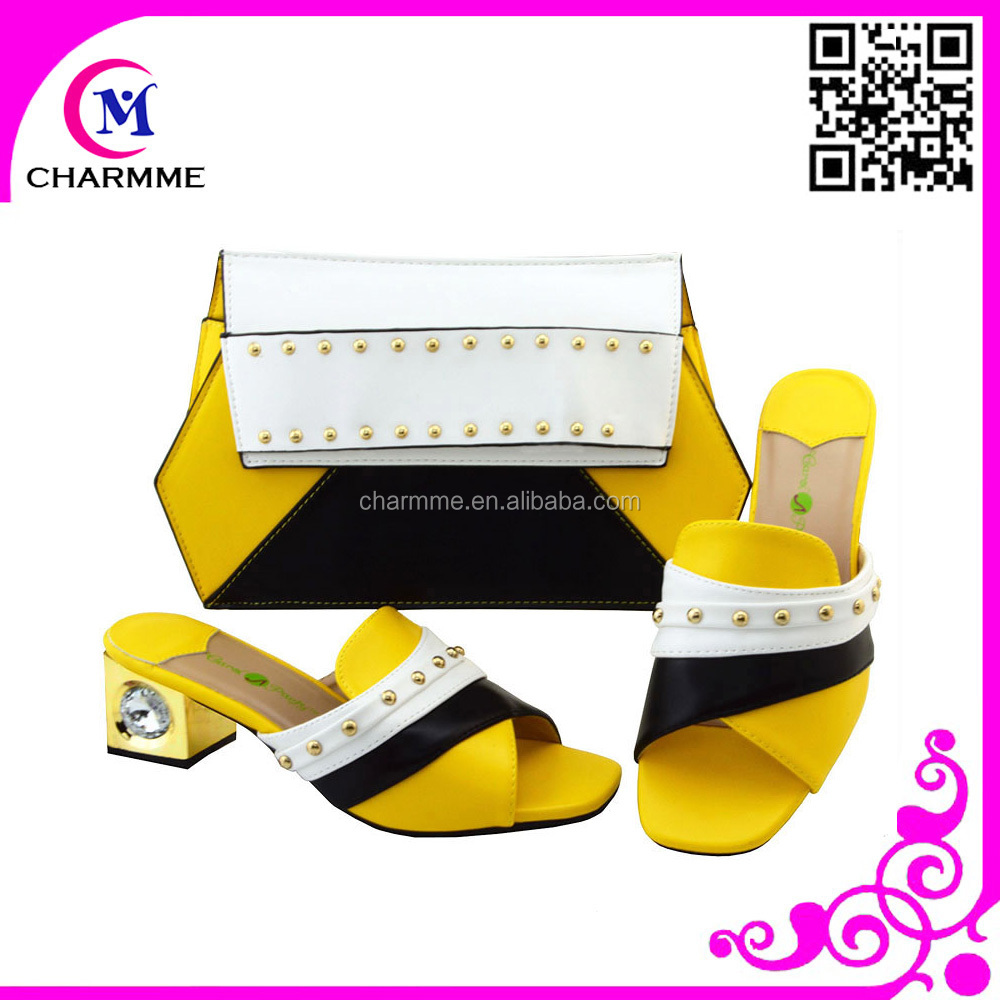 party match to bags set bags women Italian shoes African and shoes low Celebration and for heel tqIwxZp