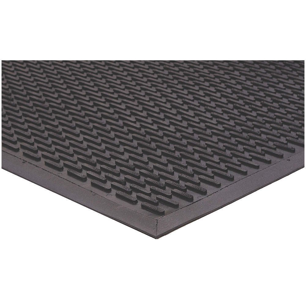 Get Quotations · Apache Mills   7937609004X6   Rubber Entrance Mat, Black, 4  X 6 Ft.