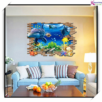 wall decoration stickers movies 3d wall art fish shark sealife
