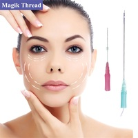 Medical Absorbable Face Lift V-line Barb Cog pdo thread with needle