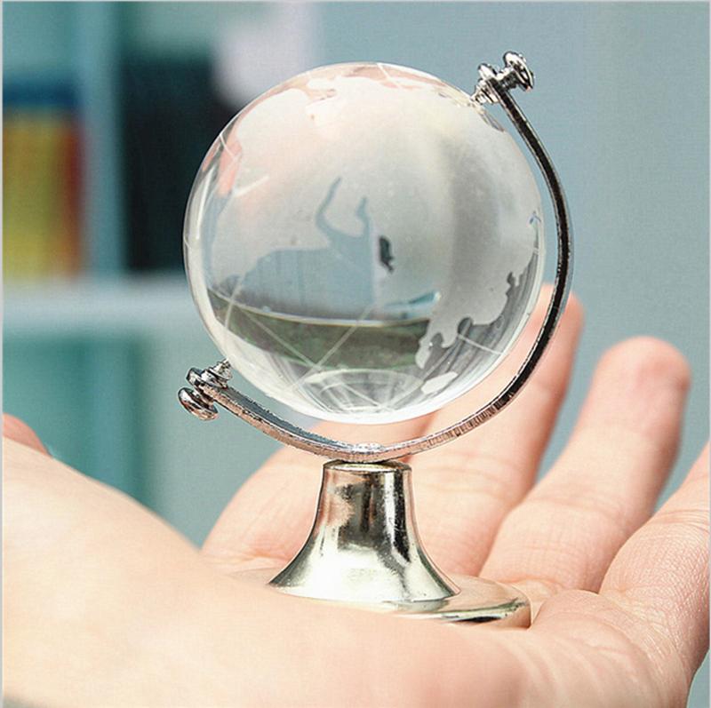 Mapa mundi rotating globos decora o de mesa oceano for Mesa cristal mapamundi