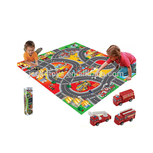 New design Traffic Mat Children Game Play Mat With Fire Truck