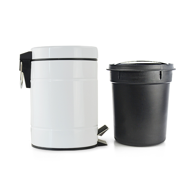 China 3L white metal liners hotel kitchen stainless steel trash can