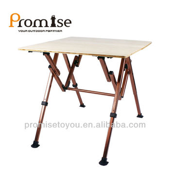 Foldable Bamboo Camper Table Height Adjustable Bamboo Camping Table PCT337