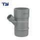Zhejiang China good Manufacturer PVC UPVC drainage DIN standard grey welded 45 degree y branch reducer tee pipe fitting