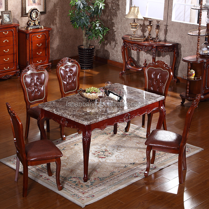 Luxury Classical Royal Baroque French Style Traditional Carved Wooden  Antique Gold Silver Stroke Dark Brown Dining Room Set   Buy Antique Gold  Dining ...