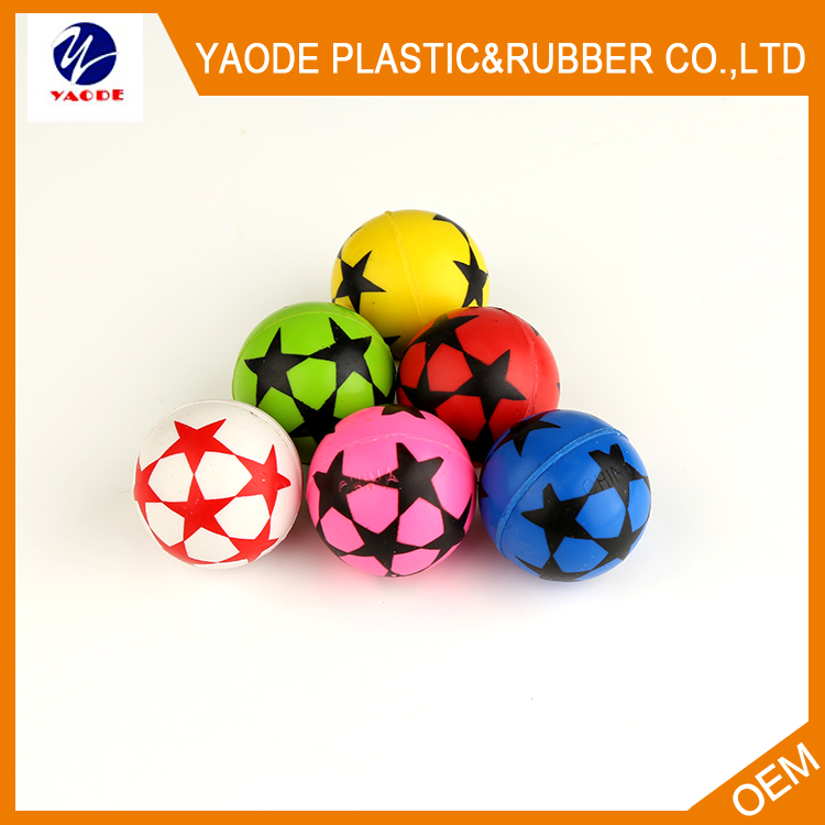 32mm kid toys printing logo super rubber bouncing ball for vending machine