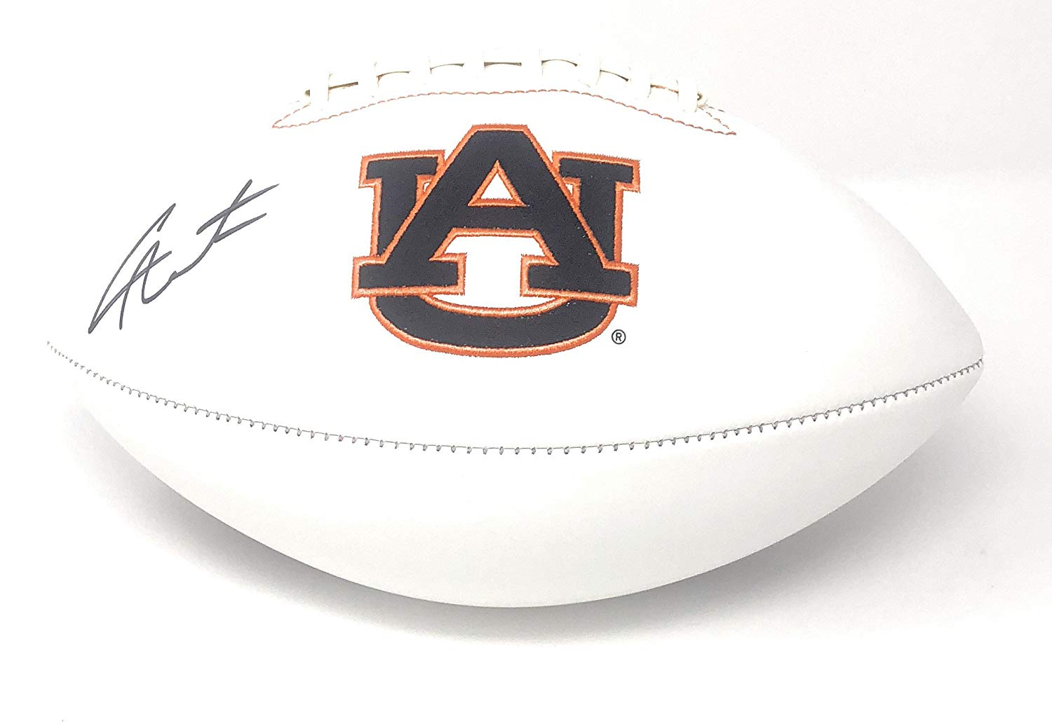 c7ed3b1e483 Get Quotations · Cam Newton Auburn Tigers Signed Autograph Embroidered Logo  Football Newton GTSM Player Hologram
