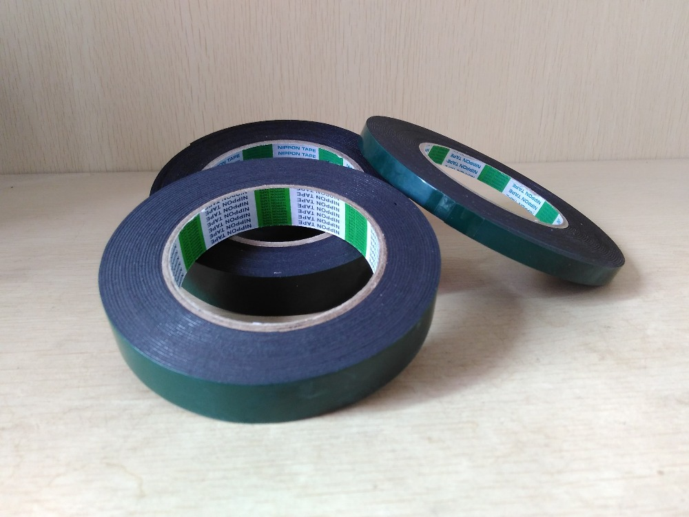 1mm thickness PE /EVA Double sided Rubber Adhesive Foam Tape with black foam