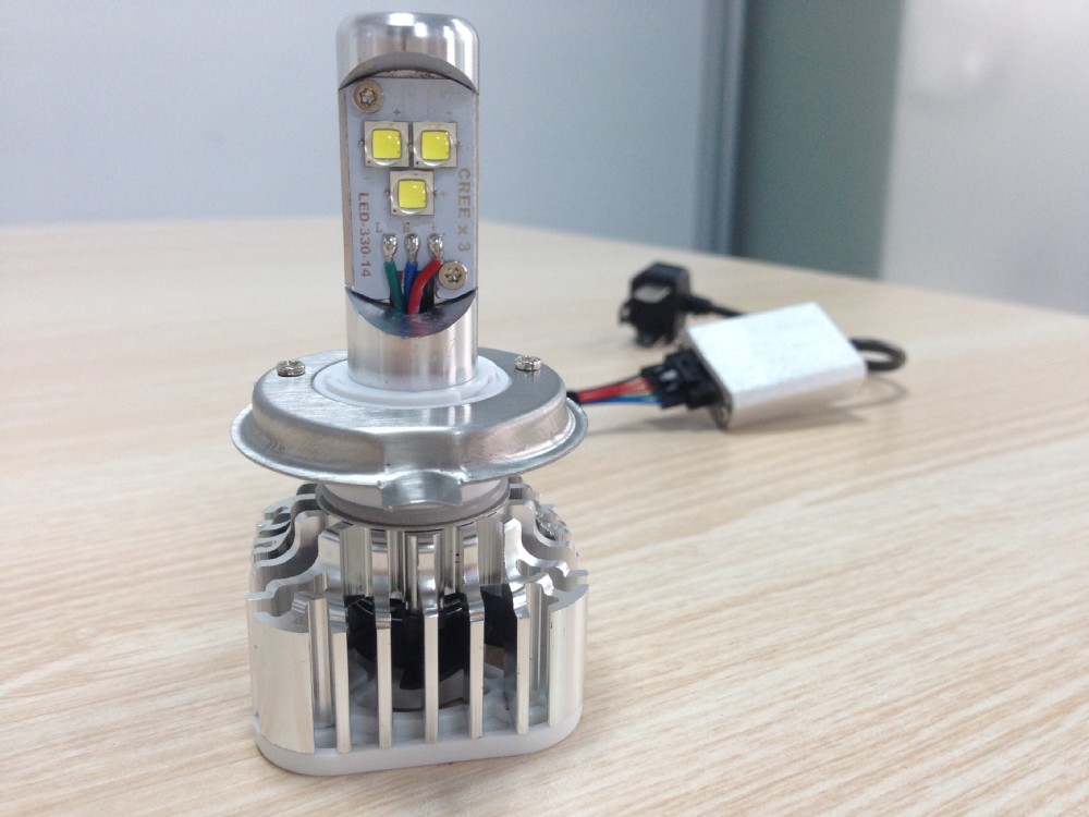 Car H4 Led Headlight Hi/lo Led Cree Heat Sink Led Head Lamps