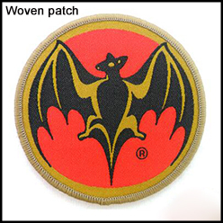 Band custom woven patch no minimum fabric woven label patch wholesale woven badge iron on gold car woven badge patch